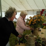 Putting the finishing touches to the floral arrangements - thank you Tilly!