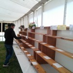 The stands are ready for entries.