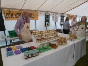 An excellent range of local honey and wax products were available for sale.