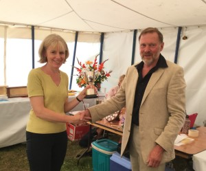 Congratulations for 'Best in Show' awarded to Carole Astbury.